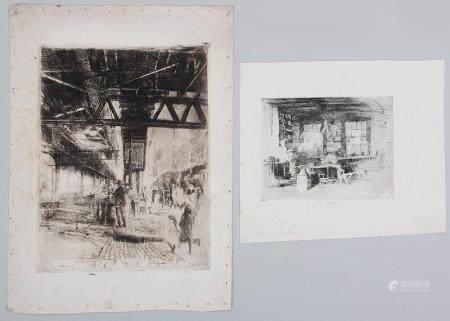 ELISHA KENT KANE WETHERILL, group of (2) etchings, 19C/20C. FR3SH.