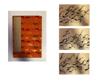 齐白石群虾画册页