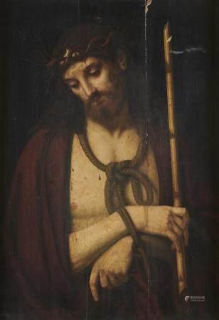 Ecole Italienne vers 1600, suiveur d'Andrea Solario Christ aux liens Panneau de [...]