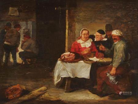 Attribué à Joss van CRAESBECK (vers 1605-vers 1654/61) Scène de taverne Panneau de [...]
