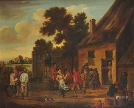 Ecole Flamande du 19ème siècle, suiveur de David Teniers Réjouissances paysanes [...]