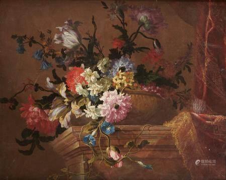 Attribué à Jean-Baptiste MONNOYER (Lille 1636 - Londres 1699) Fleurs coupées dans [...]