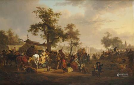 Jean Louis DEMARNE (Bruxelles 1744 - Paris 1829) Le marché ou La foire au joueur de [...]