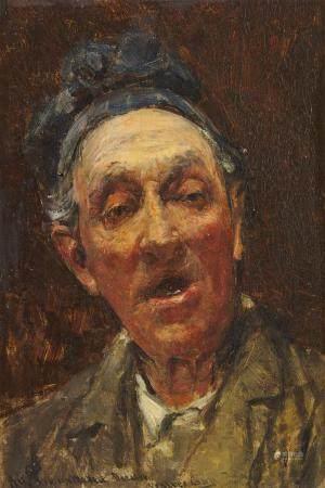 Walter GAY (1856 - 1937) Portrait Huile sur panneau, signée en bas au milieu et [...]