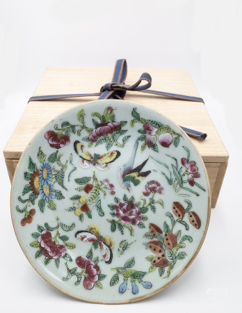 FAMILLE ROSE PLATE 19TH CENTURY