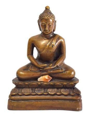 A Bronze Alloy Shakyamuni Buddha, Seated in Meditation the Y