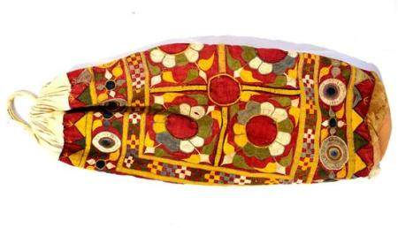 A Brightly Embroidered Cotton & Linen Back Pack,