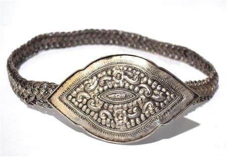 A Hill Tribe Silver Belt, with Braided SIlver WIre Belt & La