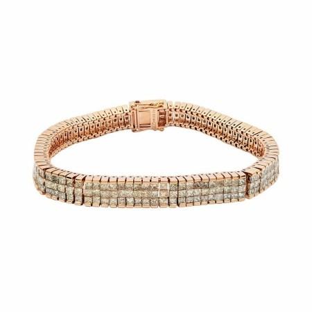 12.17ctw Diamond 14KT Rose Gold Tennis Bracelet