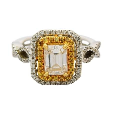 1.05ct CENTER Diamond 14KT White Gold Ring (1.70ctw Diamonds) EGL USA CERTIFIED