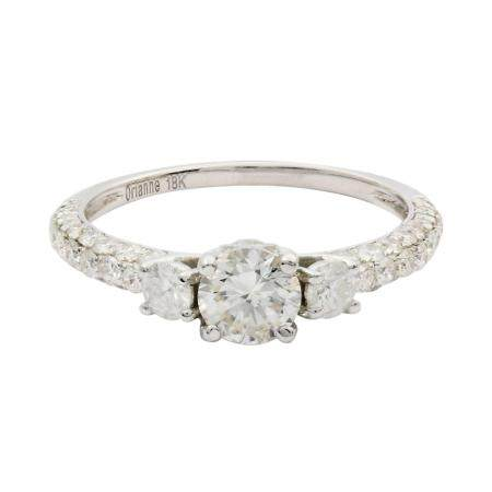 0.50ct SI2 CLARITY Diamond Unity Ring (1.38ctw Diamonds) GIA CERTIFIED