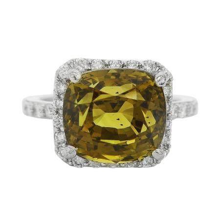 6.68ct Alexandrite and 0.46ctw Diamond Platinum Ring (GIA CERTIFIED)