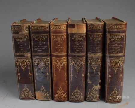 A 6-Book Collection Set Titled 'Sterne's Works'