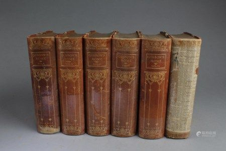 A 6-Book Collection Set Titled 'Gibbon's Rome'