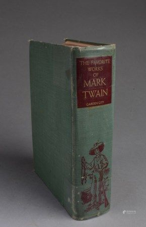A Book Titled 'The Fovorite Works of Mark Twain Garden City'