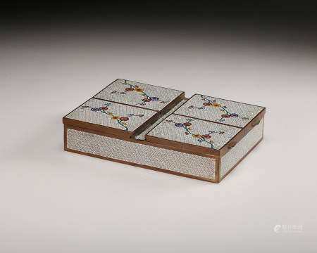 Chinese Cloisonne Jewelry Cover Box