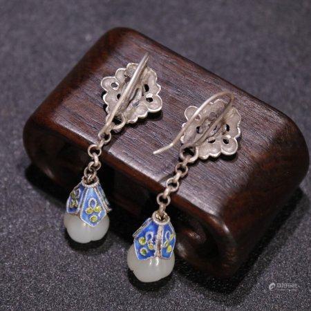 Silver Jade Earrings