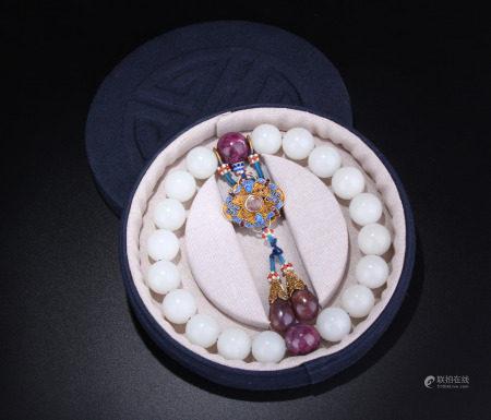 White Jade Rosary