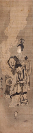 A Chinese Painting By Huang Shen