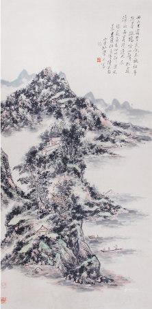 A Chinese Scroll Painting By Wang Jian