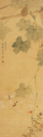 A Chinese Scroll Painting By Ju Lian