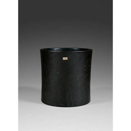 PORTE-PINCEAUX BITONG  en bois naturel, possiblement de zitan, de form