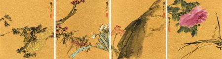 吴平 1920~2019  花卉 (四幅)