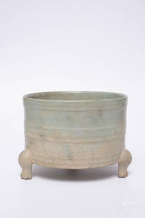 Chinese Rare Three Legged Ru Kiln Procelain