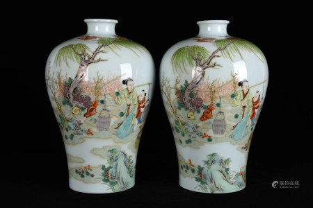 Chinese Yongzheng Year Of Qing Dynasty Famille Rose Bottle