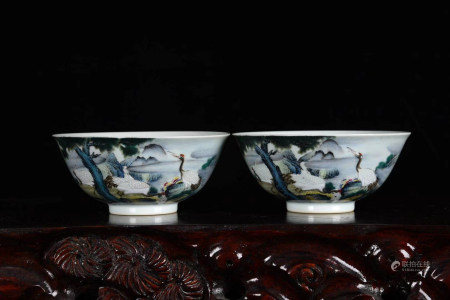 Chinese Yongzheng Year Of Qing Dynasty Famille Rose Bowls