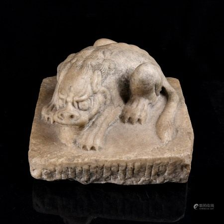 Carved Marble Figure of Mythical Beast