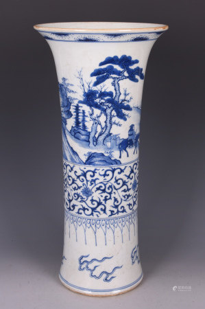 Blue And White Gu-From Porcelain Vase