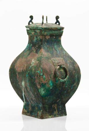 Fang Hu vase with cover