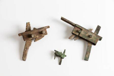 Set of three crossbow triggers
