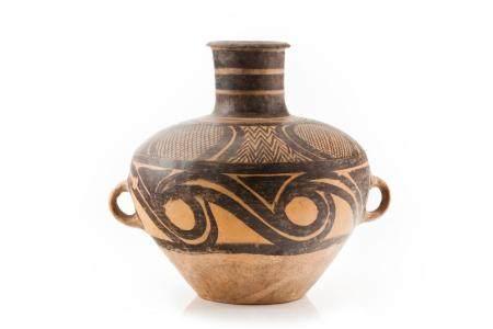 A Banshan painted jar