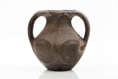 A Sichuan burnished black pottery amphora vase