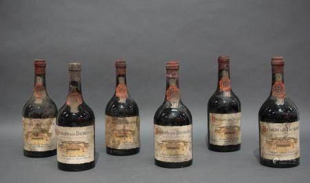 Lot de 6 bouteilles de Savigny-les-Beaune 1952