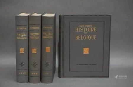 """Henri Pirenne """"Histoire de la Belgique des origines à nos jours"""". Bruxelles, La Renaissance du"""
