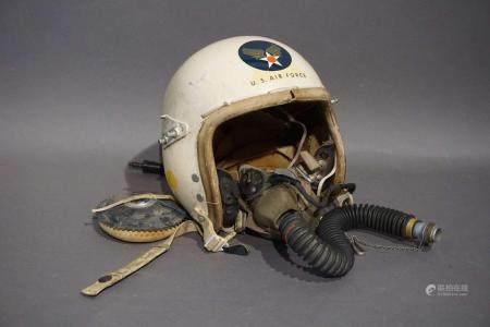 Casque de pilote de l'US Air Force. Masque à oxygène