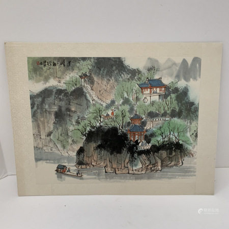 Asian watercolor