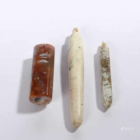 Three jade ornaments with a long history