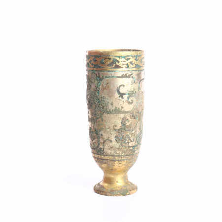 Gold and silver wine cups in the Warring States Period