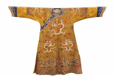 QING DYNASTY, CHINESE DRAGON ROBE