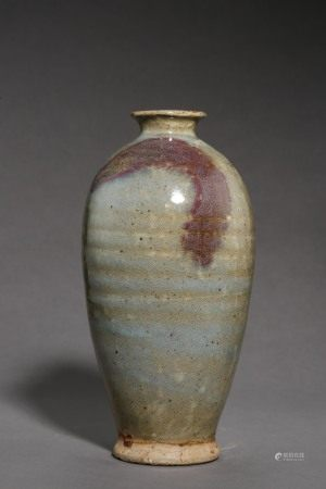 SONG DYNASTY, CHINESE JUN KILN PORCELAIN PLUM BOTTLE