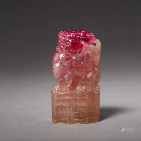 QING DYNASTY, CHINESE TOURMALINE SEAL