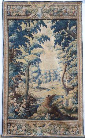 Fragment of a tapestry 'verdure', 17th - 18th century (150x2