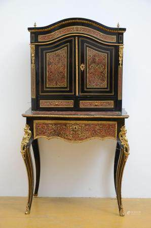A Napoleon III ladies cabinet with Boulle inlaywork (*) (50x
