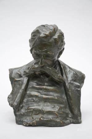 Schroevens: a plaster bust 'Emile Verhaeren' (30cm)