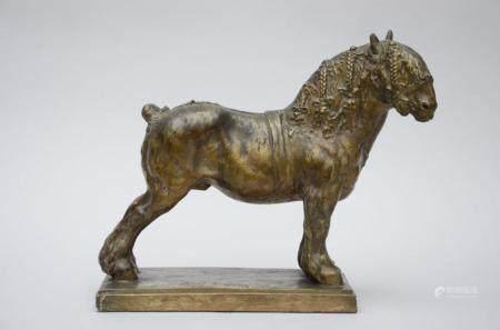 Domien Ingels: statue (plaster) 'horse' (18x52x41cm)