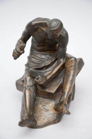 Constantin Meunier: a plaster statue 'stone mason' (*) (26x4